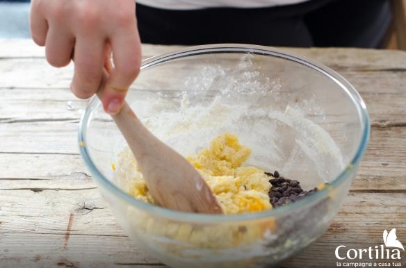 biscotti ciocc arancia - step 1
