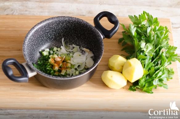 pasta patate e zucca - step 1