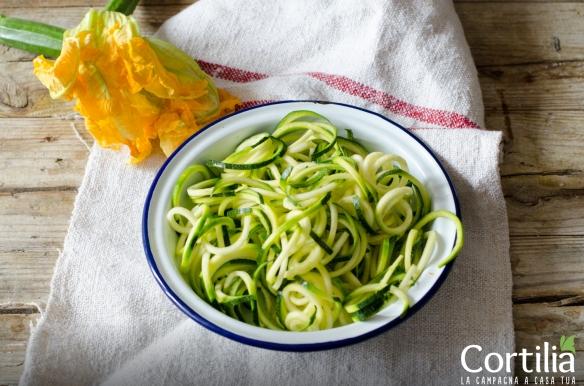 Spaghetti di zucchine al pesto 2R