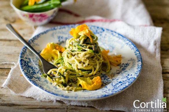 Spaghetti di zucchine al pesto R