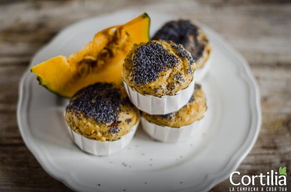 Muffin di farro con zucca e pancetta-3R